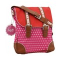 Lief! Dots  Flowers Flap Over Bag Red / Pink