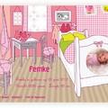 Geboortekaartjes Roze babykamer (PRE-40)