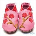 Inch Blue babyslofjes oriental blossom rose pink/coral