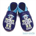Inch Blue babyslofjes Little Robot Navy