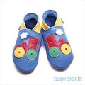 Inch Blue babyslofjes toot train blue
