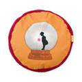 Life Time Kussen Rond Alice in Wonderland Rood 15 x 65 cm