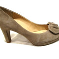 Pumps Paul Green Peeptoe met strik Beige