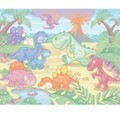 Behang Walltastic Baby Dino Multicolor