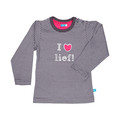 Lief! Striped T-shirt Pavement Grey Mt. 62