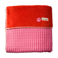 Koeka 1-Persoons Deken Wafel / Teddy Oslo Hot Pink / Red