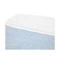 Baby`s Only Wieglaken Wit / Baby Blauw 80 x 100